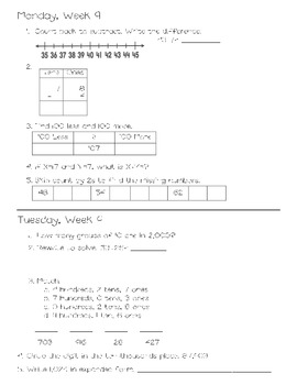 Common Core Daily Math for Second Grade