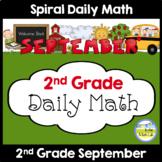 Morning Work Spiral Daily Math | 2nd Grade September
