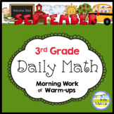 3rd Grade Morning Work Spiral Daily Math - September