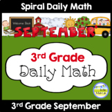 3rd Grade Spiral Daily Math SEPTEMBER Distance Learning Packets