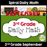 Morning Work Spiral Daily Math - 3rd Grade September