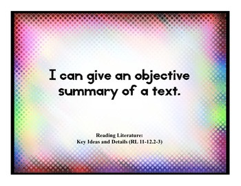 Common Core Daily Objective Posters- 11-12
