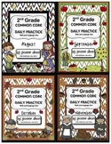 Common Core Daily Practice Worksheets for Second Grade (Fa
