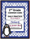 Common Core Daily Practice Worksheets for Second Grade (January)
