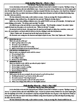 Common Core Daily Reading Warm-Ups-6th Grade