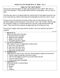 Common Core Daily Reading Warm-Ups Apple Theme RI.6.1 RI.6.2