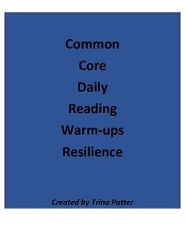 Common Core Daily Reading Warm-Ups Resilience