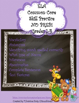 Common Core Daily Skill Practice #3