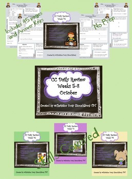 Common Core Daily Skills Practice weeks 5-8 (October)