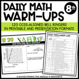 8th Grade Math Warm Ups - Common Core