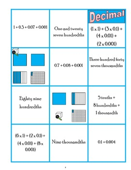 Common Core Decimal Game - Great for centers!