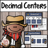 "Decimal Centers ""Adding, Comparing, and Rounding Decimals"" (Cowboy Theme)"