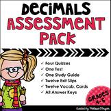 Decimals Assessment Pack - Common Core Aligned