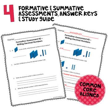 Decimals Assessment Pack