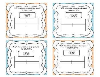 Common Core Decimal Rounding Task Cards 5.NBT.4