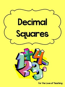 Common Core Decimal Squares