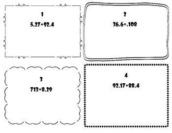 Common Core Decimal Task Cards