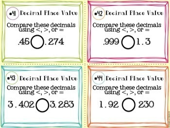 Decimal Place Value Task Cards (Expanded, Standard, Number, Rounding Decimals)