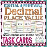Decimal Place Value Task Cards (Expanded, Standard, Number, Rounding Decimals)