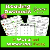 Decimal Place Value: Word and Standard Form