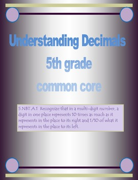 Common Core Decimals freebie