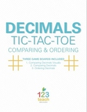 Common Core Decimals Review Activity (Compare and Order) - Partner Tic Tac Toe