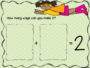 Common Core: Decomposing Numbers (Superhero themed)