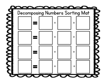 Common Core Decomposing Numbers Sorting Fun