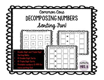 Common Core Decomposing Numbers Sorting Fun
