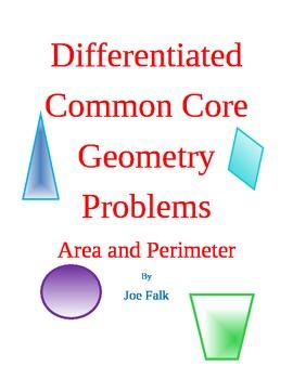 Area and Perimeter Example Common Core Aligned