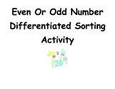 Common Core Differentiated Even and Odd Number Activity and Poem