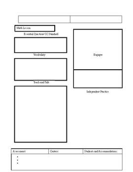 Common Core Differentiated Lesson Plan Format