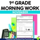 1st Grade Morning Work - November