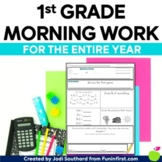 Common Core Differentiated Morning Work ENTIRE YEAR 1st Grade -Distance Learning