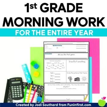 1st Grade Morning Work Bundle - Distance Learning