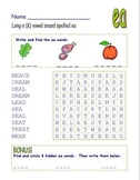 "Common Core - Digraph Long Vowel ""e"" Spelled ""ea""  DOUBLE Word Search Fun!"