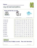 """Digraph Long Vowel """"o"""" Spelled """"oa"""" & """"ow"""" Word Search Fun!"""