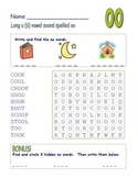 "Common Core - Digraph Long Vowel ""u"" Spelled ""oo"" Word Search Fun!"