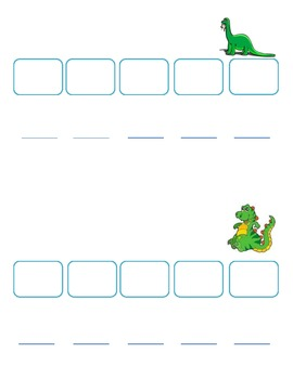 Common Core: Dinosaur Syllable Sort & Push Game