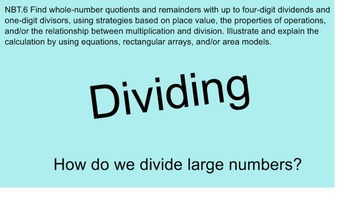 Common Core Division With Word Problems