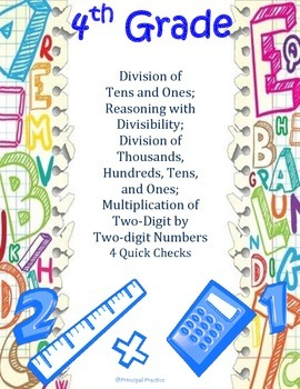 Common Core Division with Reasoning and Multiplication of Two-Digit Numbers
