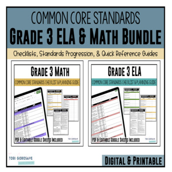 Grade 3 Common Core Documentation Checklists (ELA & Math)