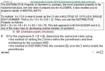 Domain OA (Grades k-5) Summary & 6 Worksheets