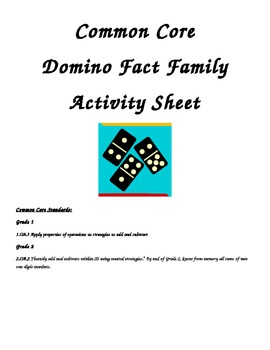 Common Core Domino Fact Families