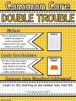 Common Core Double Trouble: Counting, Recognizing, and Showing to 120
