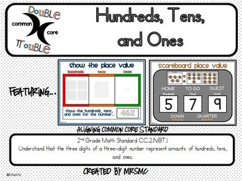 Common Core Double Trouble: Hundreds, Tens, and Ones