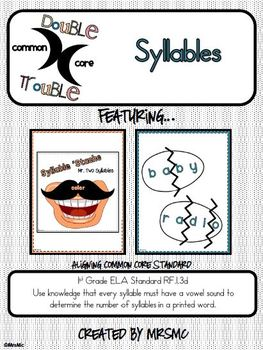 Common Core Double Trouble: Syllables
