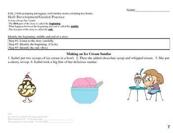 Common Core EDI Kinder RL.K.2 retell stories, including key details (B,M,E)