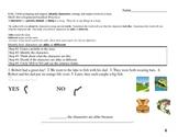 Common Core EDI Lesson Kinder, RL.K.3 Identify characters