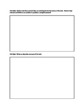 Common Core ELA 11-12 Critical Reading Worksheet